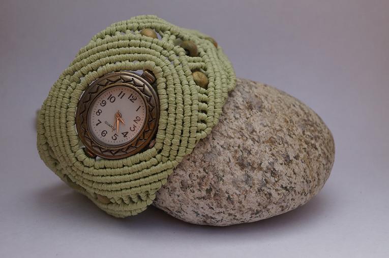 Macrame watch