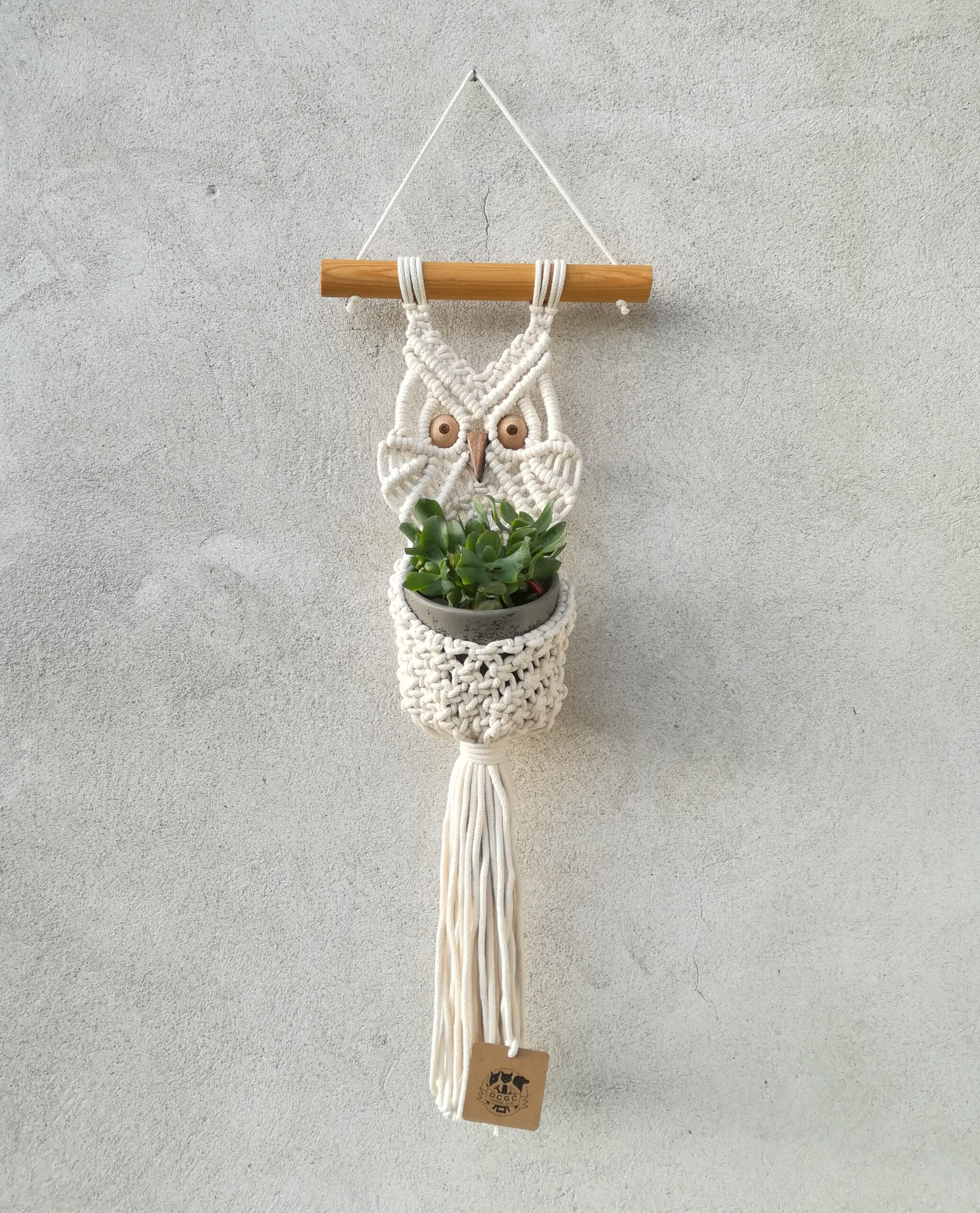 Owl wall hanging and plant hanger