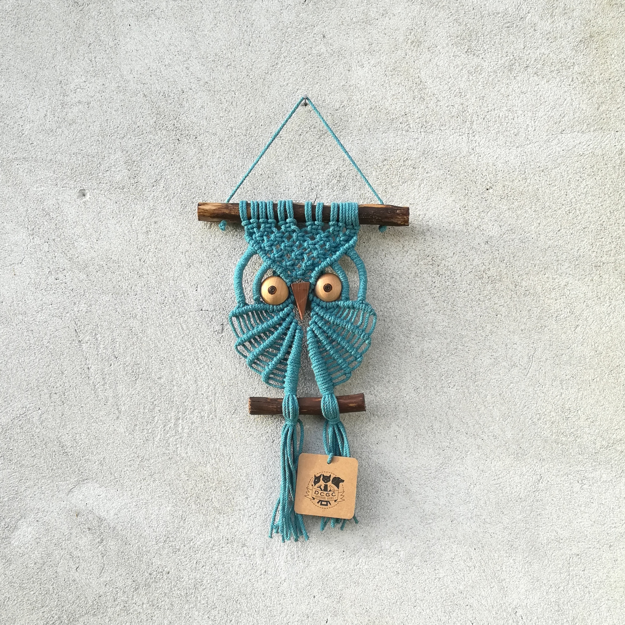 Small owl wall hanging