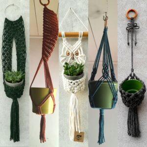Macrame plant hanger 01