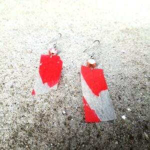 Plastic bag 'SZFE' earring
